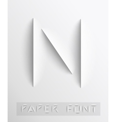 Paper cut letter Typographic vector image