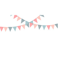party flag garland isolated on white background vector image