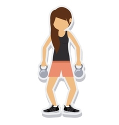 person figure athlete weightlifting sport icon vector image