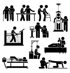 physio physiotherapy and rehabilitation treatment vector image