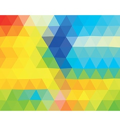 Polygonal triangle template vector image