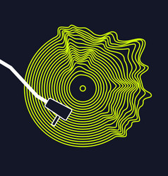 Poster of the vinyl record on vector