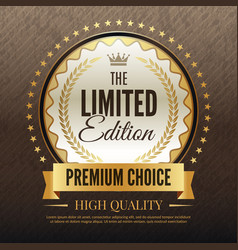premium golden poster luxury template of high vector image