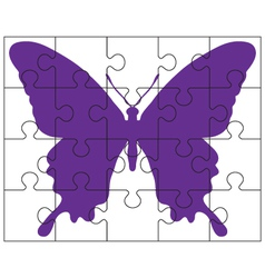 puzzle and butterfly vector image
