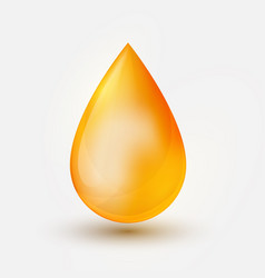 realistic yellow oil drop on white backgrou vector image