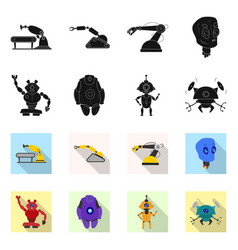 robot and factory sign vector image