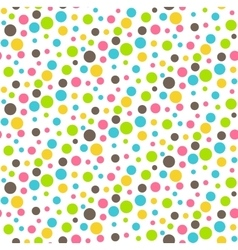 Seamless Bright Abstract Dots Chaos Pattern vector