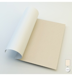 Seamless lined paper 3d vector image