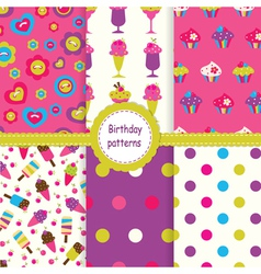 Set of birthday patterns vector image