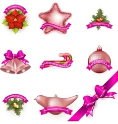 Set of Christmas attributes and toys EPS 10 vector