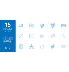 Site icons vector