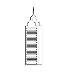 Skyscraper building city business architecture vector