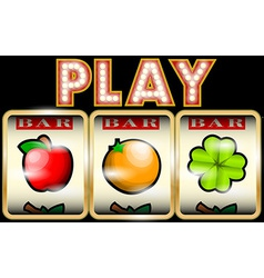 Slot Machine with fruits vector image