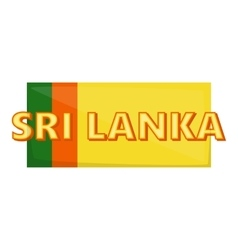 Sri lanka icon cartoon style vector