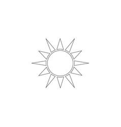 sun flat icon vector image