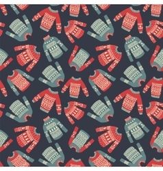 sweater pattern vector image