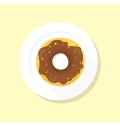 Sweet Donuts Set Design Flat Food vector image