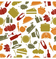 thanksgiving color seamless autumn pattern eps10 vector image