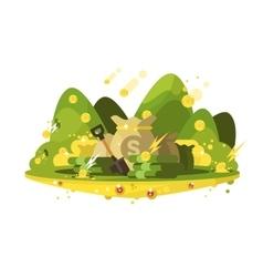 treasure a bag gold coins vector image