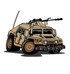 US Military Humvee Cartoon vector image