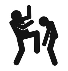 Violence icon simple style vector