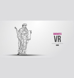 Vr abstract silhouette virtual reality glasses vector
