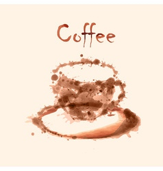 Watercolor coffee background vector image