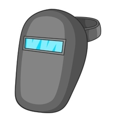 Welder mask icon cartoon style vector