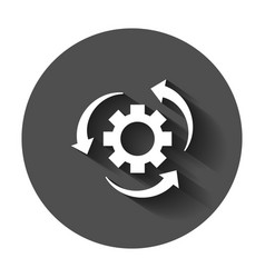 Workflow process icon in flat style gear cog vector