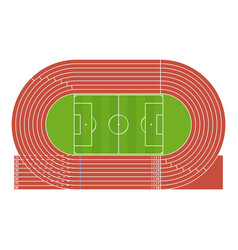 cartoon running track stadium vector image