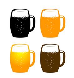 colorful beer mug vector image