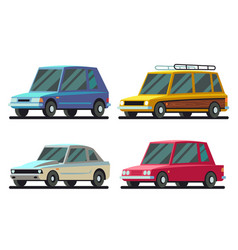 cool cartoon sports and travel cars set vector image vector image