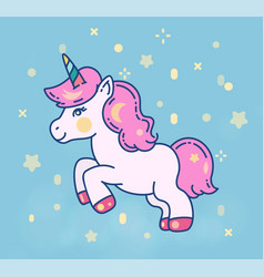 cute little unicorn horse flat vector image