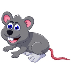 cute mouse cartoon posing vector image vector image