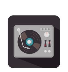 disk vinyl retro music vector image