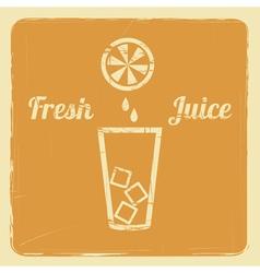 juice retro poster orange vector image