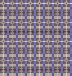 Seamless checkered pattern Purple and beige vector image