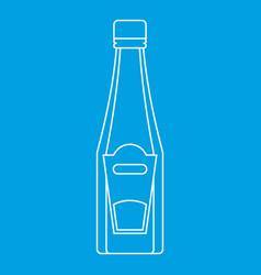 bottle of ketchup or mustard icon outline style vector image