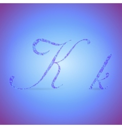 Letters K with Polygonal Pattern vector image