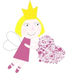 Princess with heart vector image