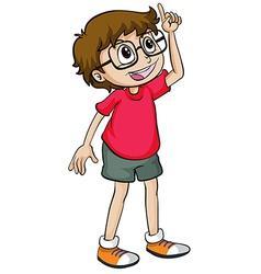 A smiling boy vector image