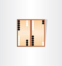 backgammon tournament icon design vector image