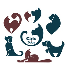 cats and dog vector image vector image
