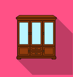 classical cupboard icon in flat style isolated on vector image