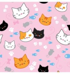 kitten pattern vector image vector image