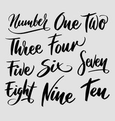 Number typography vector