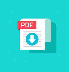 pdf download icon symbol flat text vector image