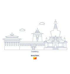 thimphu city skyline vector image vector image