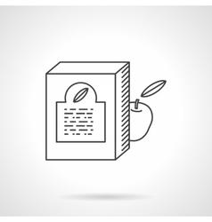 Baby food box flat line icon vector image