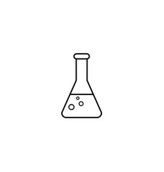 chemical line icon laboratory glass sign vector image